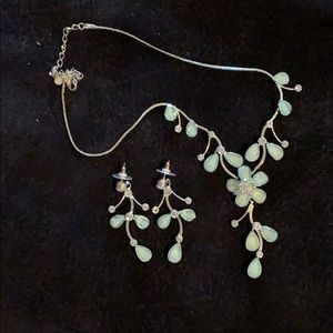 Jewelry - Flower & Leaf Necklace and Earring Set
